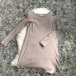 Taupe essential long sleeved dress